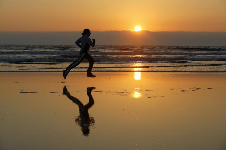 sunset-running