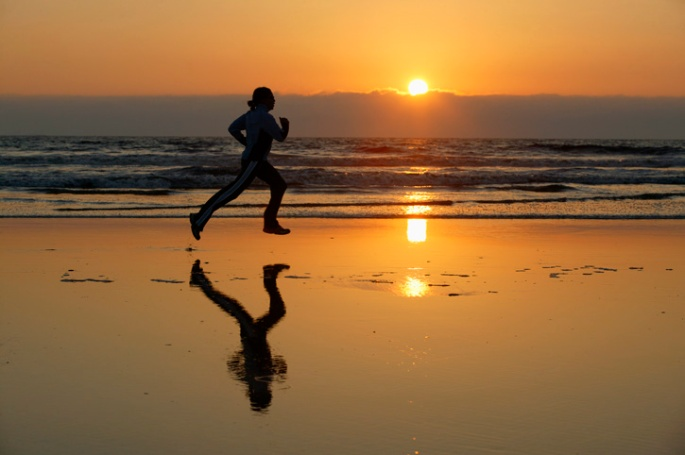 sunset-running