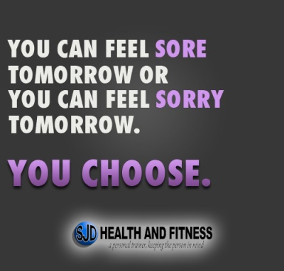 You can feel sore or sorry